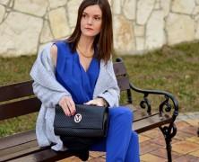 Royal blue jumpsuit czyli Monika w chabrowym kombinezonie