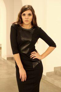 czarna sukienka geo