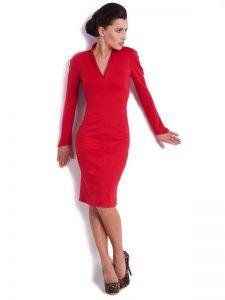 km czerwona sukienka