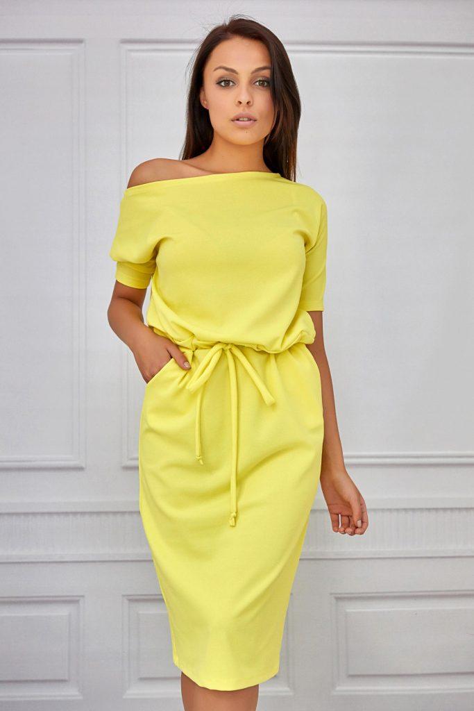 letnia sukienka midi żółta2