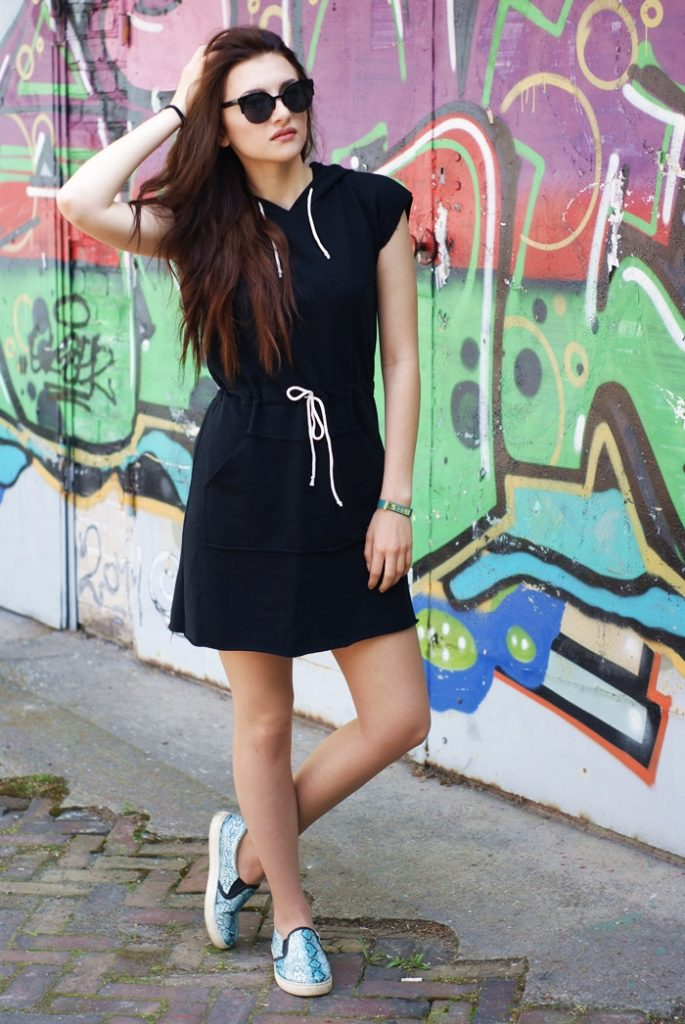 czarna sportowa sukienka2