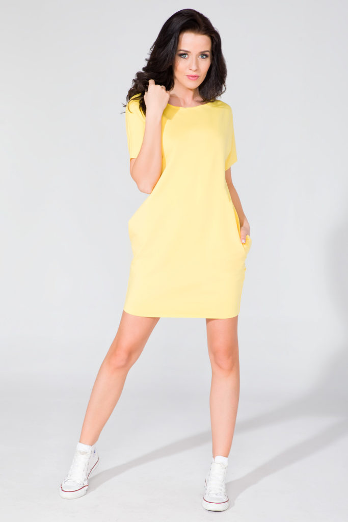 zółta sukienka na lato