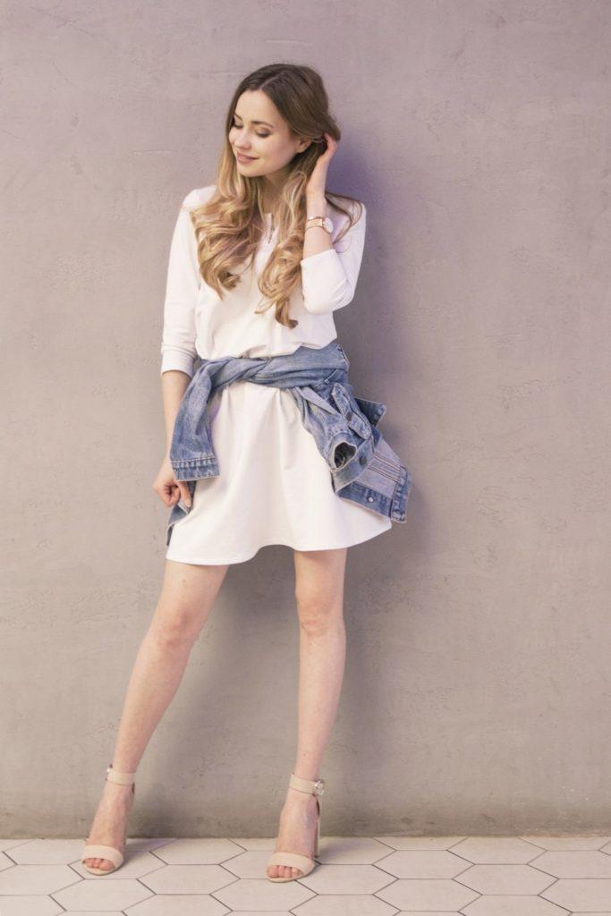 biała bawełniana sukienka mini