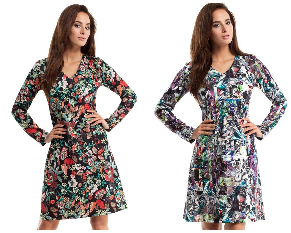 sukienka z wzorem